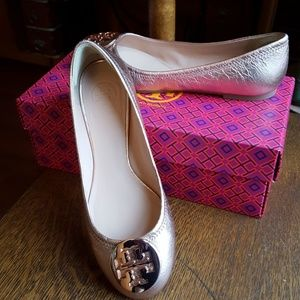 Tory Burch Rose Gold leather flat
